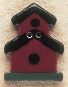 43031 - Dark Red two story Birdhouse - 3/4in x 1 1/8in